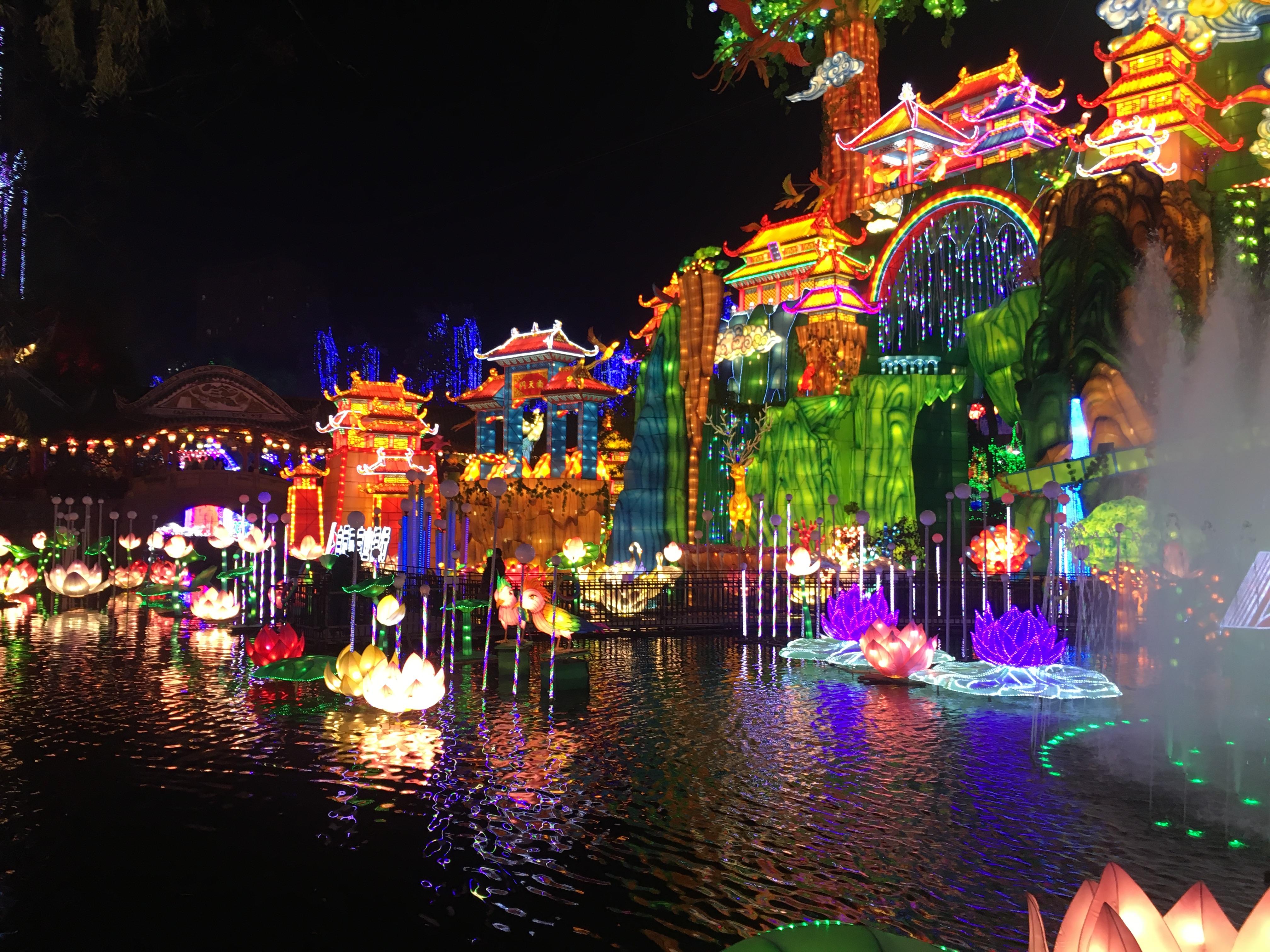 lantern festival zigong china international twenty manufacturer third chinese lanterns water parade cartoon luminous dragon company landscape lighting animal landscapes
