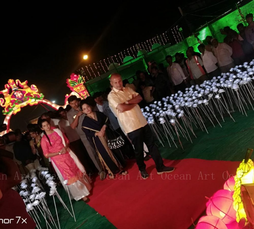 Festival lantern in mysore city of India_Ocean Art (7)